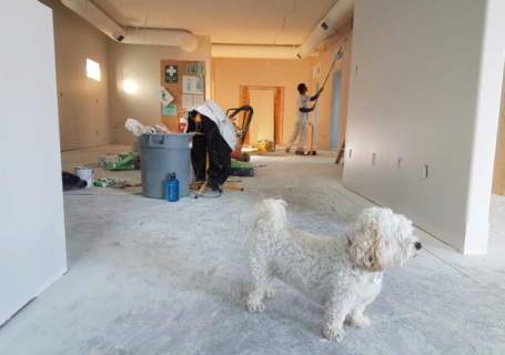 Home undergoing remodeling
